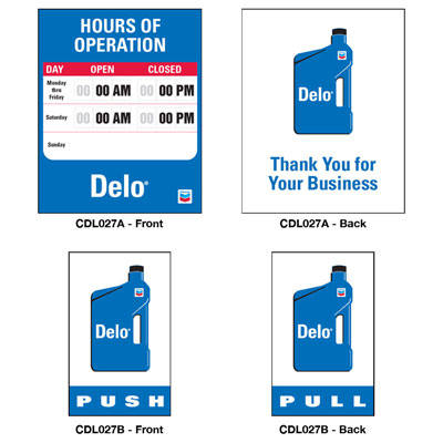 Push/Pull Decal & Hours of Operation Decal