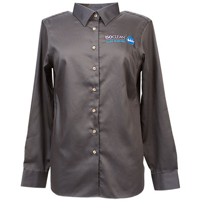 ISOCLEAN Womens Long Sleeve Performance Twill Shirt