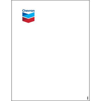 "Chevron Decals - 8.5"" x 11"""