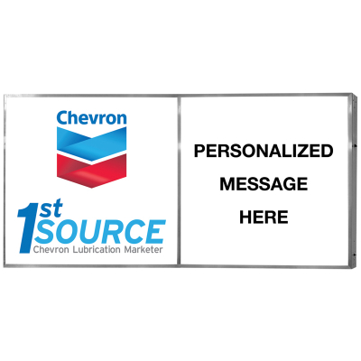 Chev 1st Source Illum. Sign w/pers SF WM - 8 X 4