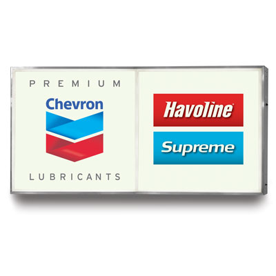 Chevron Premium Lubricants + Havoline/Supreme Sign Faces - 4' x 4' (set/2)