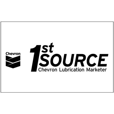 Chevron 1st Source Black/White Decal (Two Sizes)