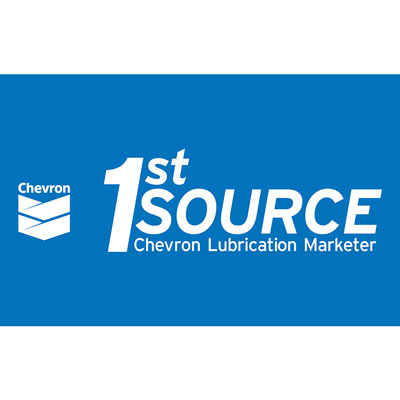 Chevron 1st Source Blue Decal (Two Sizes)