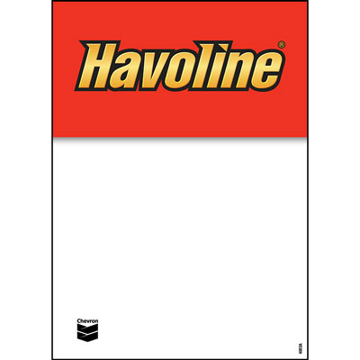 "Havoline Decals - 5"" x 7"" each"
