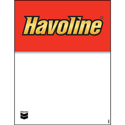 "Havoline Decals - 8.5"" x 11"" each"