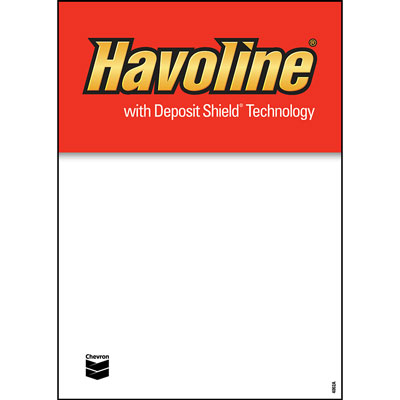 "Havoline Deposit Shield Decals - 5"" x 7"" each"