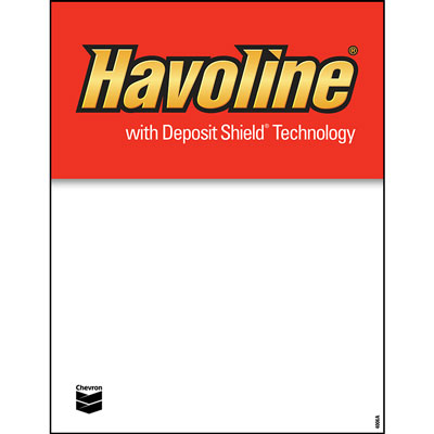 "Havoline Deposit Shield Decals - 8.5"" x 11"" each"