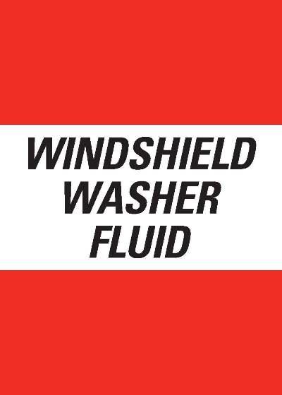 "Decal - 5"" x 7"" Windshield Washer Fluid"