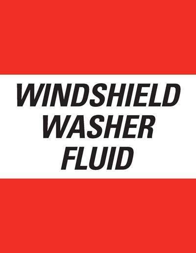 Decal - 8x10 Windshield Washer