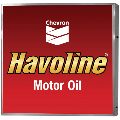 Havoline Illuminated Sign - Single Face Non-Personalized Wall Mount