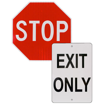 Directional Signs(set) Stop & Exit