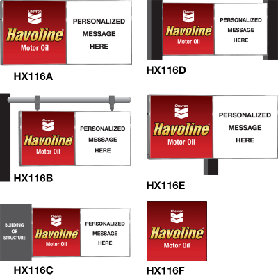 Havoline Personalized Illuminated Signs