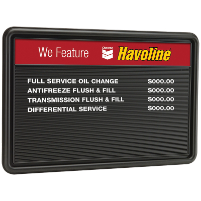 "Havoline Basic Menu Board - 36"" x 24"""