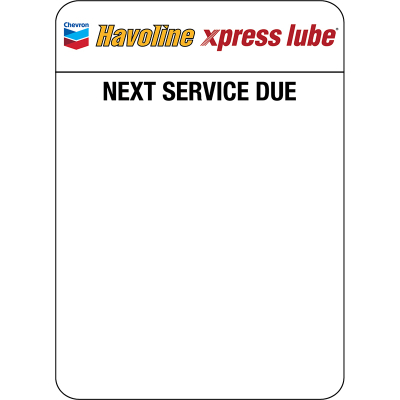 Havoline xpress lube Clings (5 rolls of 500 = 2,500 clings) - SmartPrint Printer