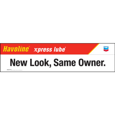 Havoline xpress lube Banner