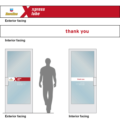 Havoline xpress lube Door Decal
