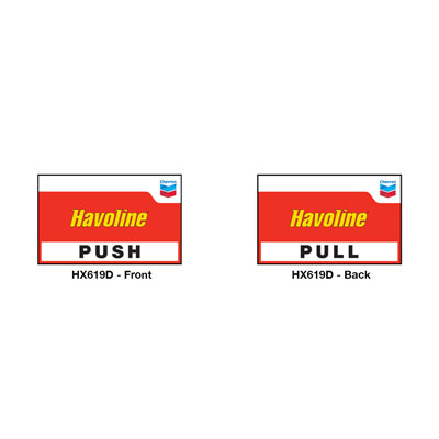 Havoline Push/Pull Double-Sided Decal (eaches)