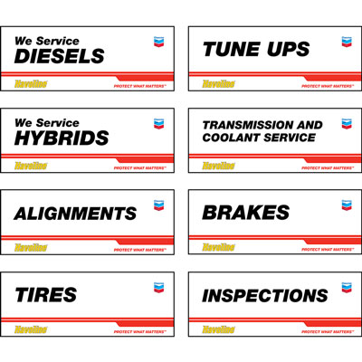 Havoline Service Bay Banners