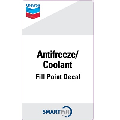 "Chevron Antifreeze/Coolant Decal - 3"" x 5"""