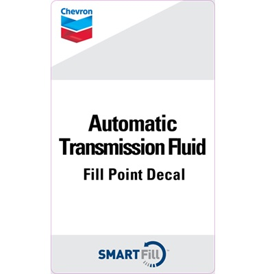 "Chevron Automatic Transmission Fluid Decal - 3"" x 5"""