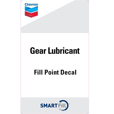 "Chevron Gear Lubricant Decal - 3"" x 5"""