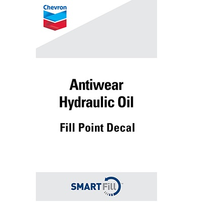 "Chevron Antiwear Hydraulic Oil Decal - 3"" x 5"""