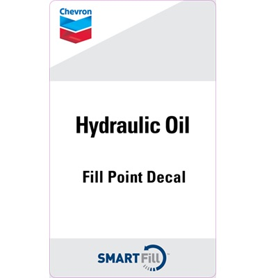 "Chevron Hydraulic Oil Decal - 3"" x 5"""