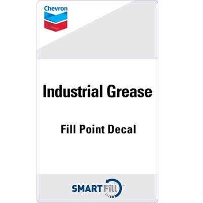 "Chevron Industrial Grease Decal - 3"" x 5"""