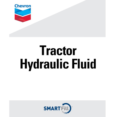 "Chevron Tractor Hydraulic Fluid Decal - 7"" x 8.5"""