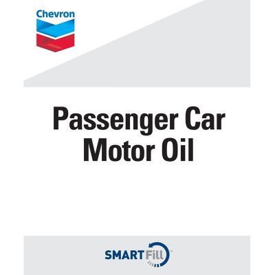 "Chevron Passenger Car Motor Oil Decal - 7"" x 8.5"""