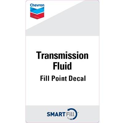 "Chevron Transmission Fluid Decal 3"" x 5"""