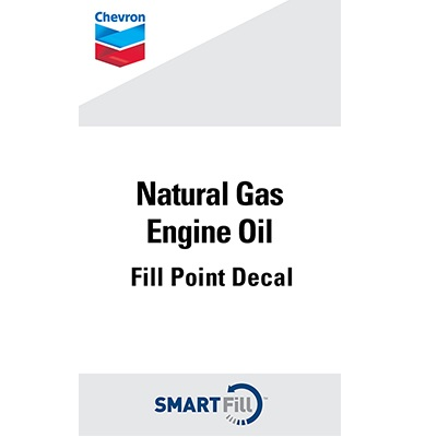 "Chevron Natural Gas Engine Oil Decal - 3"" x 5"""