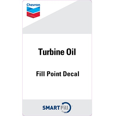 "Chevron Turbine Oils Decal - 3"" x 5"""