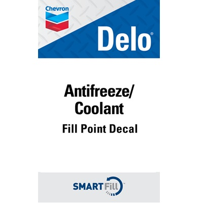 "Delo Antifreeze/Coolant Decal - 3"" x 5"""