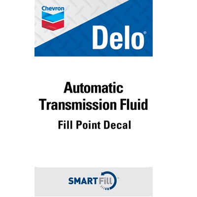 "Delo Automatic Transmission Fluid Decal - 3"" x 5"""