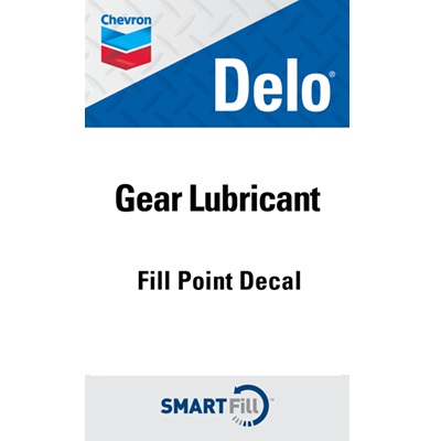 "Delo Gear Lubricant Decal - 3"" x 5"""