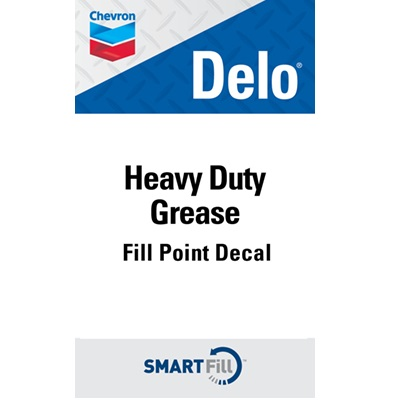 "Delo Heavy Duty Grease Decal - 3"" x 5"""