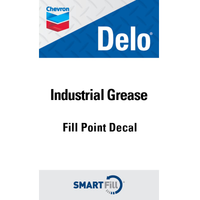 "Delo Industrial Grease Decal - 3"" x 5"""