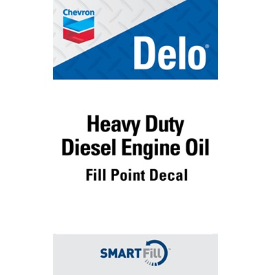 "Delo Heavy Duty Diesel Engine Oil Decal - 3"" x 5"""
