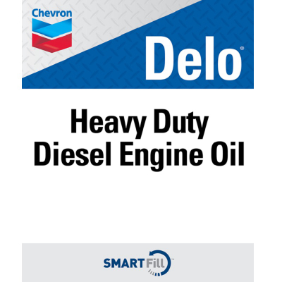 "Delo Heavy Duty Diesel Engine Oil Decal - 7"" x 8.5"""