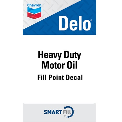 "Delo Heavy Duty Motor Oil Decal - 3"" x 5"""