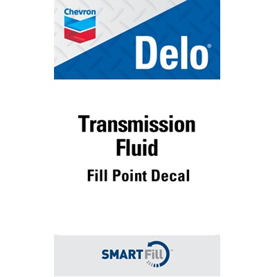 "Delo Transmission Fluid Decal - 3"" x 5"""