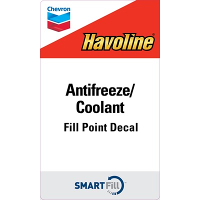 "Havoline Antifreeze/Coolant Decal - 3"" x 5"""