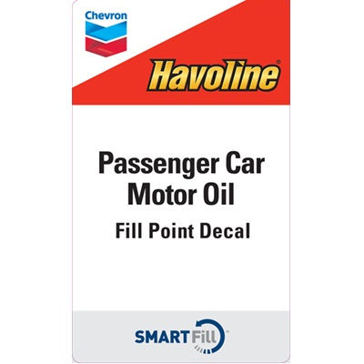 "Havoline Passenger Car Motor Oil Decal - 3"" x 5"""