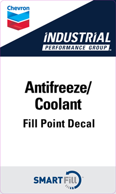 "Industrial Antifreeze/Coolant Decal - 3"" x 5"""