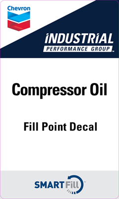 "Industrial Compressor Oil Decal - 3"" x 5"""
