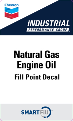 "Industrial Natural Gas Engine Oil Decal - 3"" x 5"""