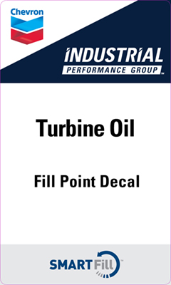 "Industrial Turbine Oil Decal - 3"" x 5"""