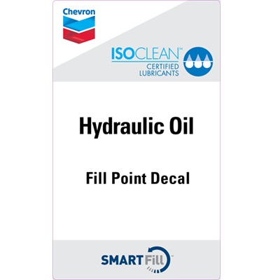 "ISOCLEAN Hydraulic Oil Decal - 3"" x 5"""