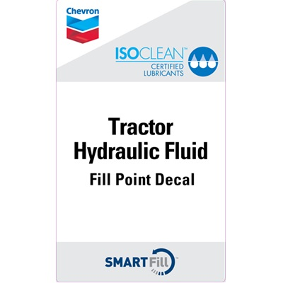 "ISOCLEAN Tractor Hydraulic Fluid Decal - 3"" x 5"""